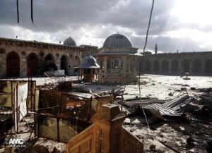 Zerstörungen, Quelle: Aleppo Media Center