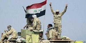 Siegreiche irakische Soldaten, Photo: SANA