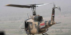 Militärhubschrauber im Einsatz, Photo: SANA