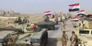 Irakische Armee vor al-Hawîja, Photo: SANA