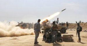 Irakische Armee im Gefecht, Photo: SANA