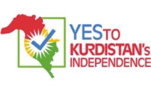 Wahlplakat mit einem Kurdistan, das über die Grenze des iraksicehn Autonomiegebietes deutlich heinausgeht, Abb. voltairenet.org