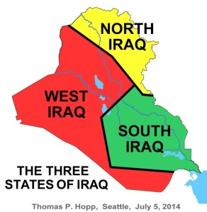 """Dreiteilung (""""Balkanisierung"""") des Iraks"""