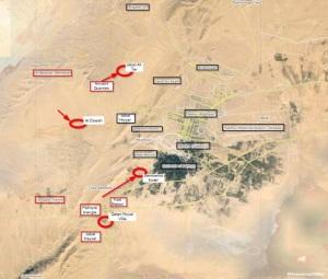 Schlacht um Tadmur, Karte: syrianfreepress