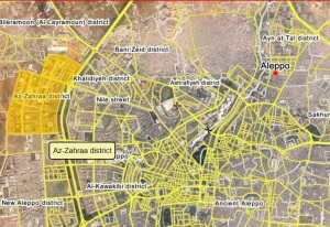 Aleppo, Karte: syrianfreepress