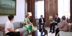 Empfang der Delegation des EU-Parlaments durch Präsident Dr. al-Assad (Photo: SANA)