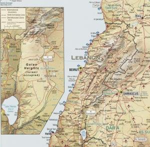 Golanhöhen, Kartenquelle: syrianfreepress