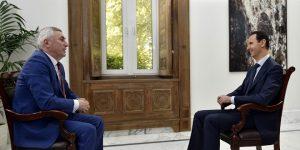Präsidenten-Interview vom 12.5.2017, Photo: SANA