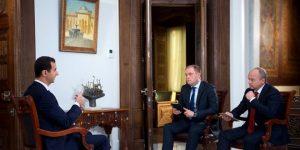 Präsident Dr. al-Assad im Interview mit Russia-24 und ntv; Photo: SANA