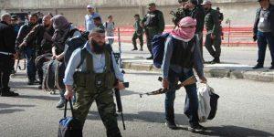 Militante aus al-Waʽir ziehen ab, Photo: SANA