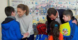 Empfang befreiter Bürger durch den Präsidenten und seine Frau, Pfoto: SANA