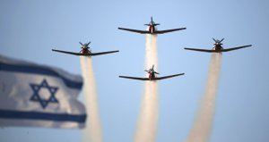 Israelische Bomber, Photo: SANA