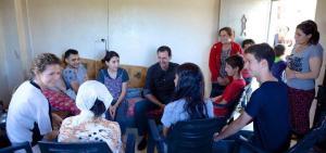 Verwundetenbesuch der Familie von Präsident Dr. al-Assad, Photo: SANA