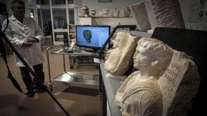 Wiederherstellung vom IS zerstörter Artefakte aus Palmyra in Rom; Photo: SANA