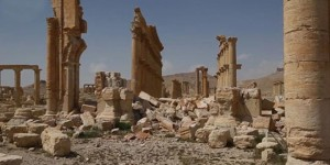 Zerstörungen in Palmyra, Photo: SANA