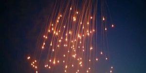Bombardierung ar-Raqqas mit weißem Phosphor, Photo: SANA