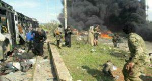 Anschlag auf Busse in Aleppo, Photo: SANA