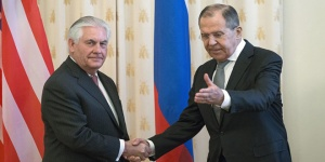 Lawrow und Tillerson in Moskau, Photo: SANA