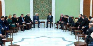 Russisch-europäische Delegation beim Präsidenten, Photo: SANA