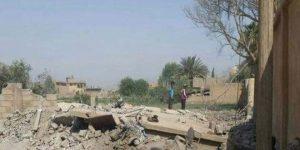 Nach Bombardement der US-geführten Koalition, Photo: SANA