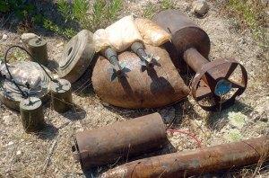 Sprengsätze der Terroristen, Photo: SANA