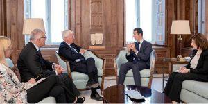 Empfang der italienischen Delegation beim Präsidenten
