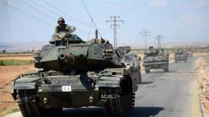 Türkischer Aufmarsch an Grenze zu Syrien, Photo: SANA