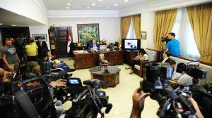 Pressekonferenz von Dr. al-Miqdâd, Photo: SANA