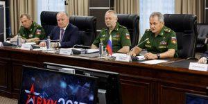 Pressekonferenz mit Verteidigungsminister Schoigu, Photo: SANA