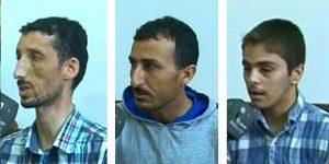 Die drei in Hamâ verhafteten IS-Terroristen, Photo: SANA