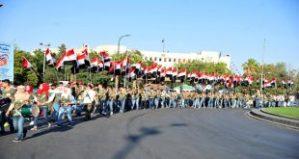 Unterstützungsdemonstration für die SAA zu deren 72. Gründungstag, Photo: SANA