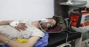 Behandlung nach Giftgas-Terrorattacke, Photo: SANA