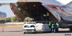 Ankunft russischer Hilfsgüter, Photo: Sputnik News