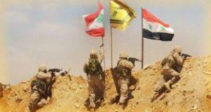 Flaggenhissung im West-Qalamûn an der Grenze, Photo: SANA