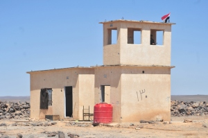 Verwaister Grenzposten zu Jordanien, Photo: SANA