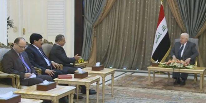 Wonderful Syrischer Innenminister Beim Irakischen Staatspräsidenten, Photo: SANA