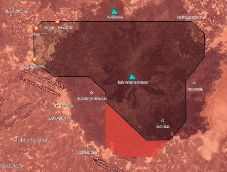 11, Karte SAA-Operationen im Gebiet aṣ-Ṣafâ